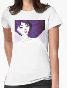 Girl with violet hair Womens Fitted T-Shirt