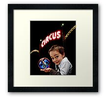 Circus Boy Framed Print