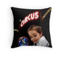 Circus Boy Throw Pillow