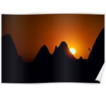 Pinnacles Sunset Poster