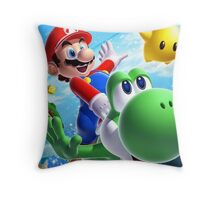 MARIO FLY PRODUCT Throw Pillow