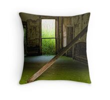 ethereal green Throw Pillow