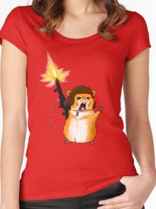 Hamster Rambo Women's Fitted Scoop T-Shirt