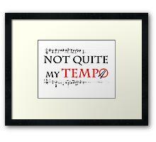 Whiplash - Not quite my tempo Framed Print