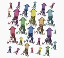 Rainbow squid Kids Clothes