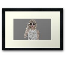 Taylor Swift Typography Framed Print