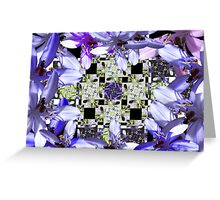 native bee on flower crystal Greeting Card