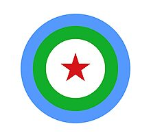 Djibouti Air Force - Roundel Photographic Print
