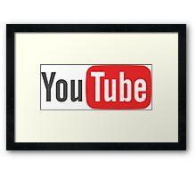 Youtube Framed Print
