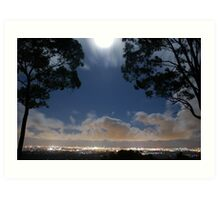 Full Moon at Surfers Paradise Gold Coast © Vicki Ferrari Photography Art Print