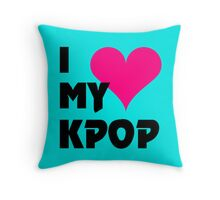 I LOVE MY KPOP - TEAL Throw Pillow