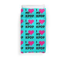 I LOVE MY KPOP - TEAL Duvet Cover