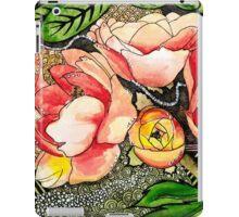 Peach Floral iPad Case/Skin