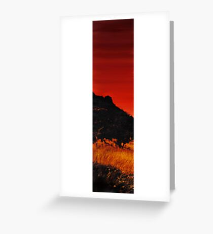 And The Devil Weeps Tonight Greeting Card