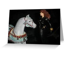 Christmas Horse & Black Widow Greeting Card