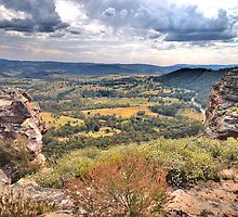 Vantage Point - Hassans Walls Lookout - Blue Mountains - The HDR Experience by Philip Johnson