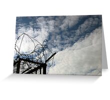 Barbwire / Blue Sky Greeting Card