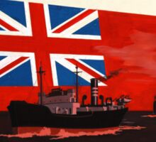 Red Duster, Red Ensign, Royal Merchant Navy, WWII poster Sticker