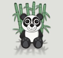 Bay-Bay Panda With Bamboo Tee (shadow) by BluAlien