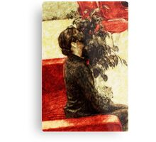 Modest girl and attracting plant Metal Print