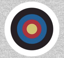Bulls eye, Red, White, Blue, Roundel, Target, SMALL ON BLACK Kids Clothes