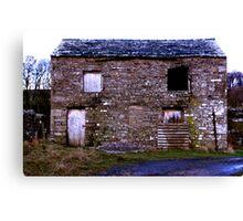 Old Stone Barn Canvas Print