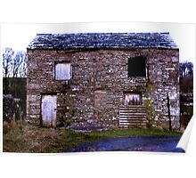 Old Stone Barn Poster
