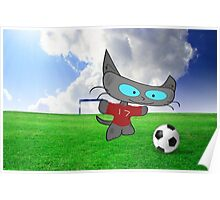 Cat Soccer Star Poster