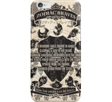 Zodiac Braves iPhone Case/Skin