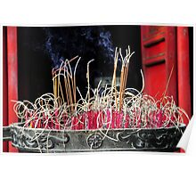 Burning Incense Poster
