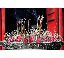 Burning Incense Photographic Print