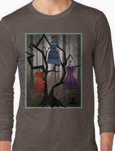 Gothic Dress tree by Mythic Fairy Art Long Sleeve T-Shirt
