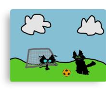 Kitten's Soccer Practice Canvas Print
