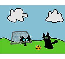 Kitten's Soccer Practice Photographic Print