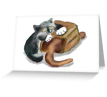Paper Bag and Two Kittens Greeting Card
