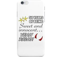 Cute 50th Birthday Humor iPhone Case/Skin
