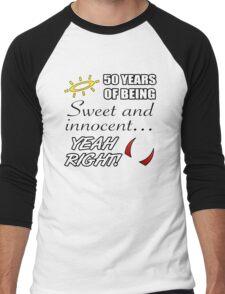 Cute 50th Birthday Humor Men's Baseball ¾ T-Shirt