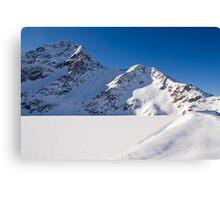 Winter Reservoir Canvas Print
