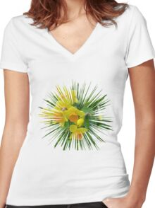 Daffodils.... Women's Fitted V-Neck T-Shirt