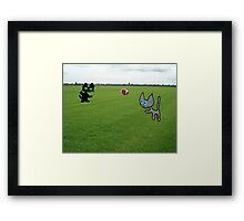 Cats Practice Football Framed Print