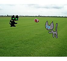 Cats Practice Football Photographic Print