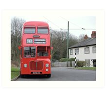 Birmingham Bus (From the Good Old Days) Art Print