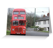 Birmingham Bus (From the Good Old Days) Greeting Card