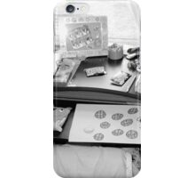 My grand daughters work desk iPhone Case/Skin