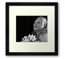 Happy Bride Framed Print