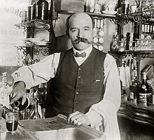 Bartender Pouring Drink, 1910 by historyphoto
