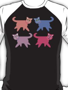 4 Colorful Cats T-Shirt