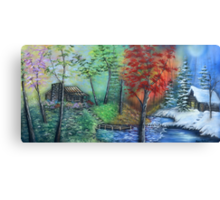 Four Seasons In One Day By Sherry Arthur Canvas Print