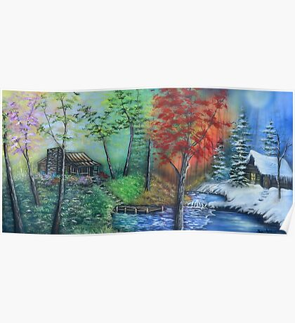 Four Seasons In One Day By Sherry Arthur Poster