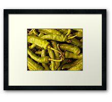 Chiles Framed Print
